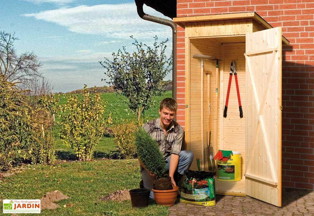 Armoire Jardin Bois Napel 1 porte 83x85x195