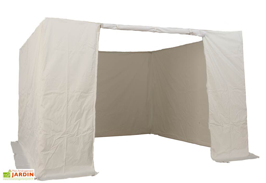 Kit 4 Murs PVC Blanc 300 gr/m² (Porte, 2xFenêtres, Plein) 3x3 Alu