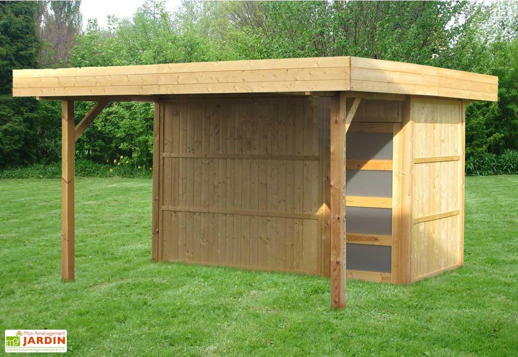 Abri de jardin bois Pool House 2 modules