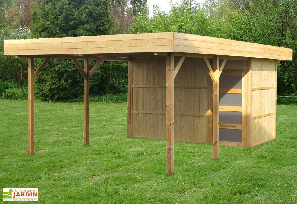Abri de jardin bois Pool House 3 modules