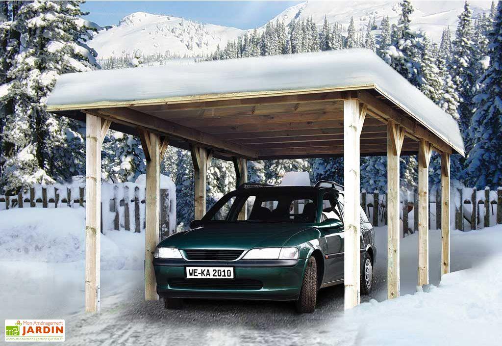 Carport tirol 3x6 abri garage tirol weka for Piscine 3x6 prix