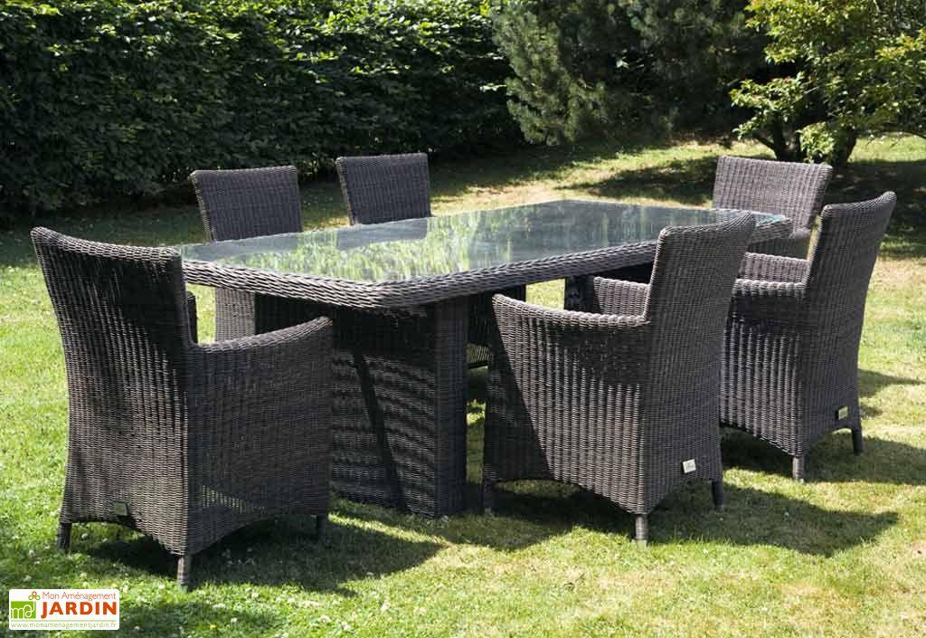 Table et Fauteuils de Jardin Resine Lucca