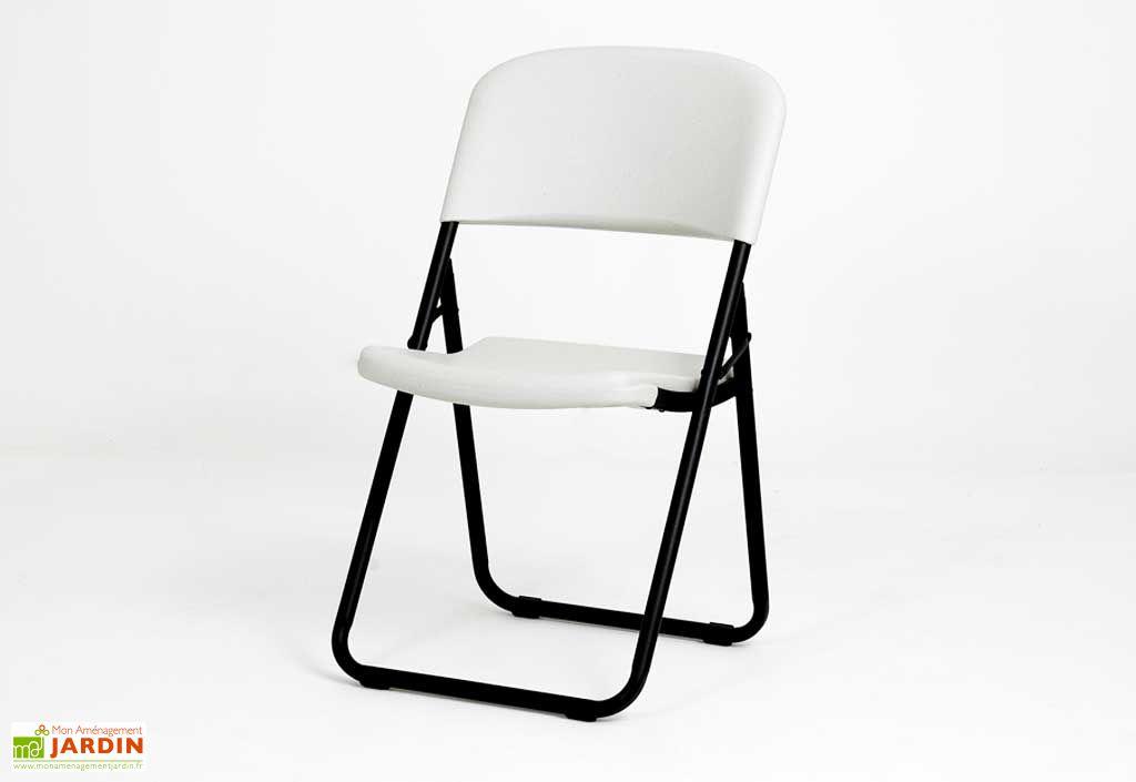 Chaise de Jardin Résine Pliante Loop Legs