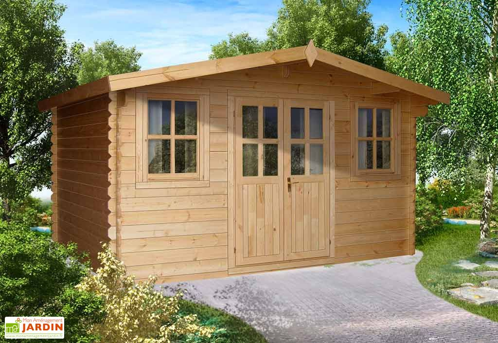 Abri de Jardin Bois Oxford (499x399x256)