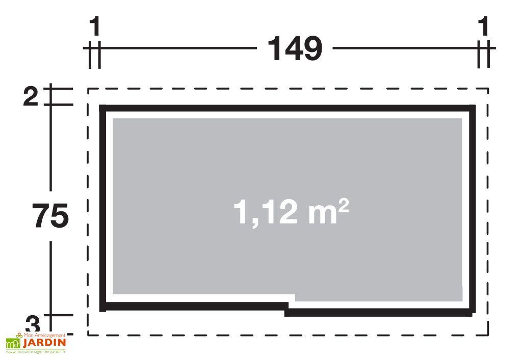 Armoire de Jardin Métal Takubo 157 (149x75)