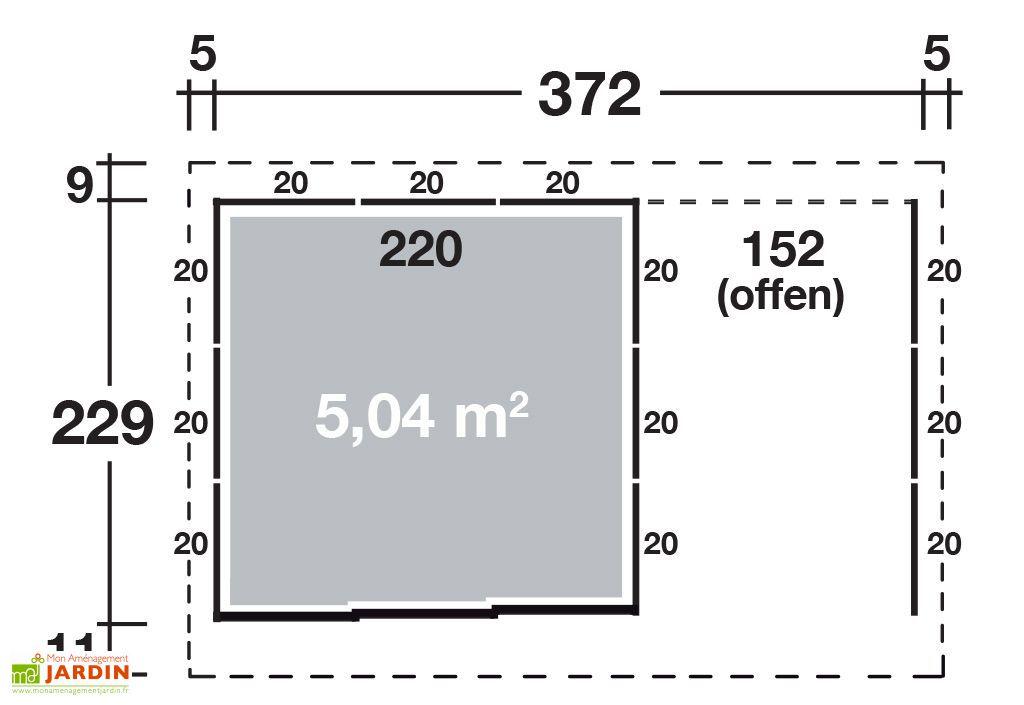 Abri de Jardin Métal Tokyo (372x229)