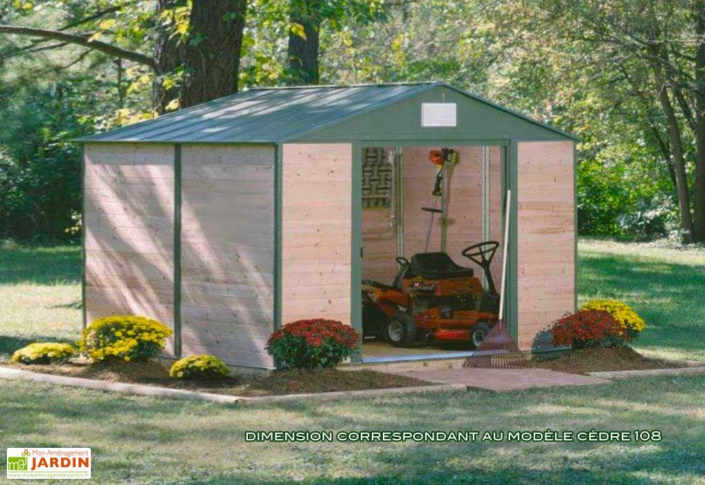 Abri de jardin bois cedre 1012 307x371x233 abri de for Abri de jardin bois contemporain
