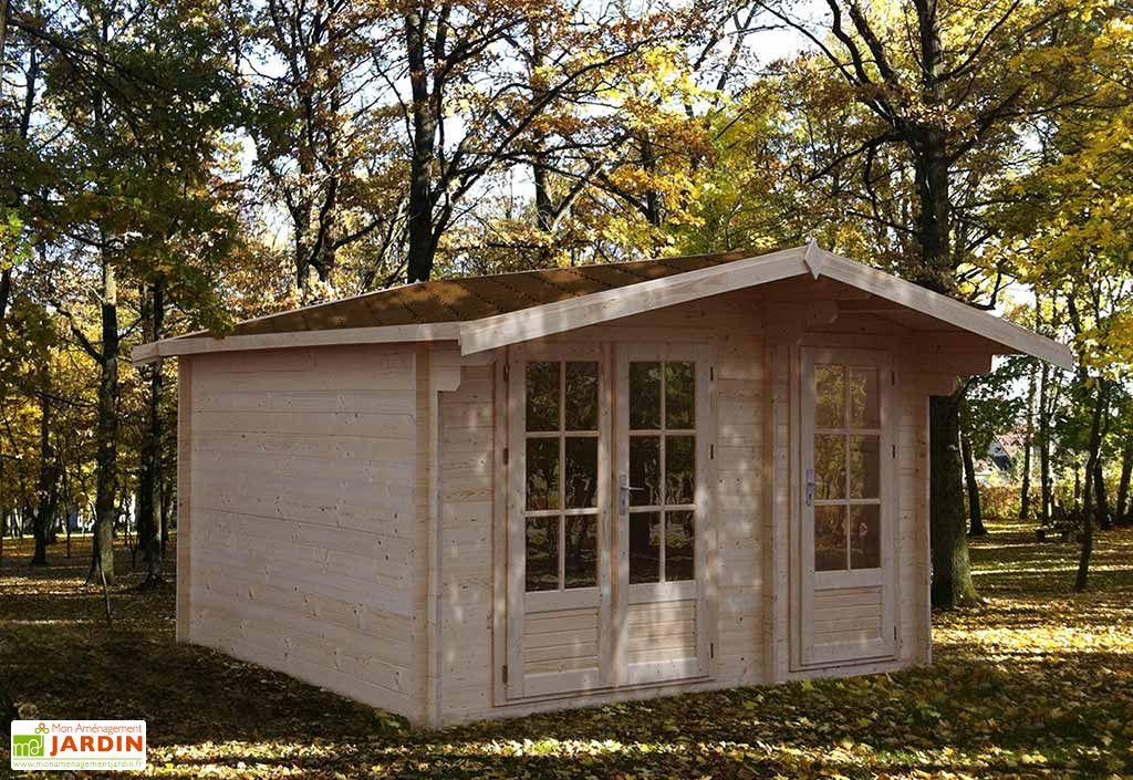 Abri de Jardin Bois Evenos 35mm (370x300cm)