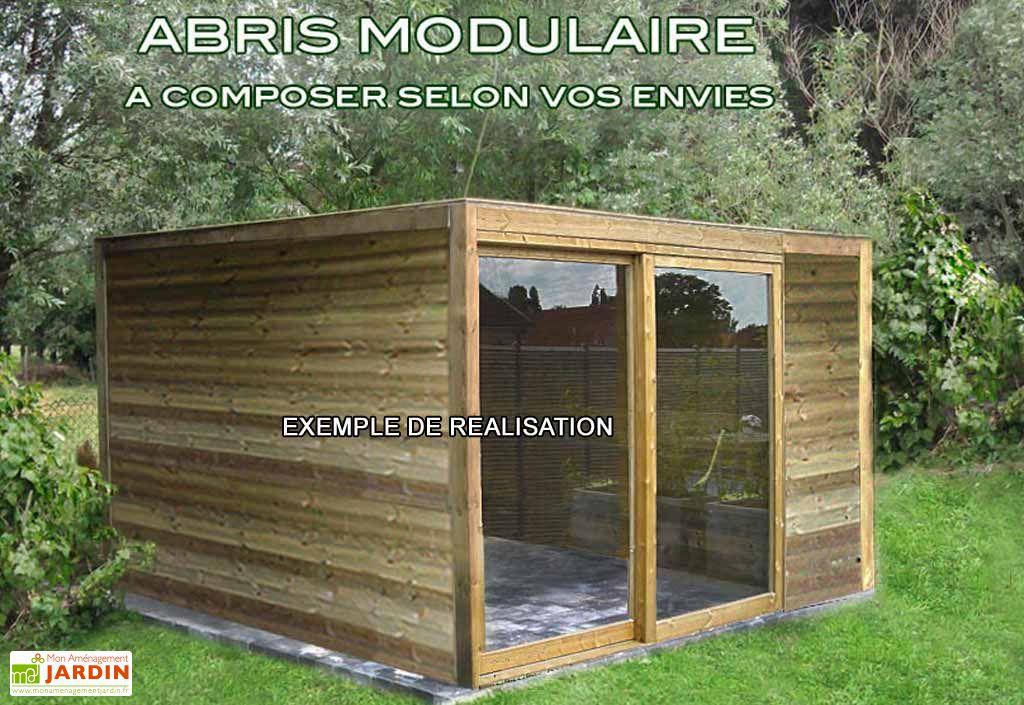 Abri de jardin bois exterior 300x300x230 gardival for Abri bois de jardin
