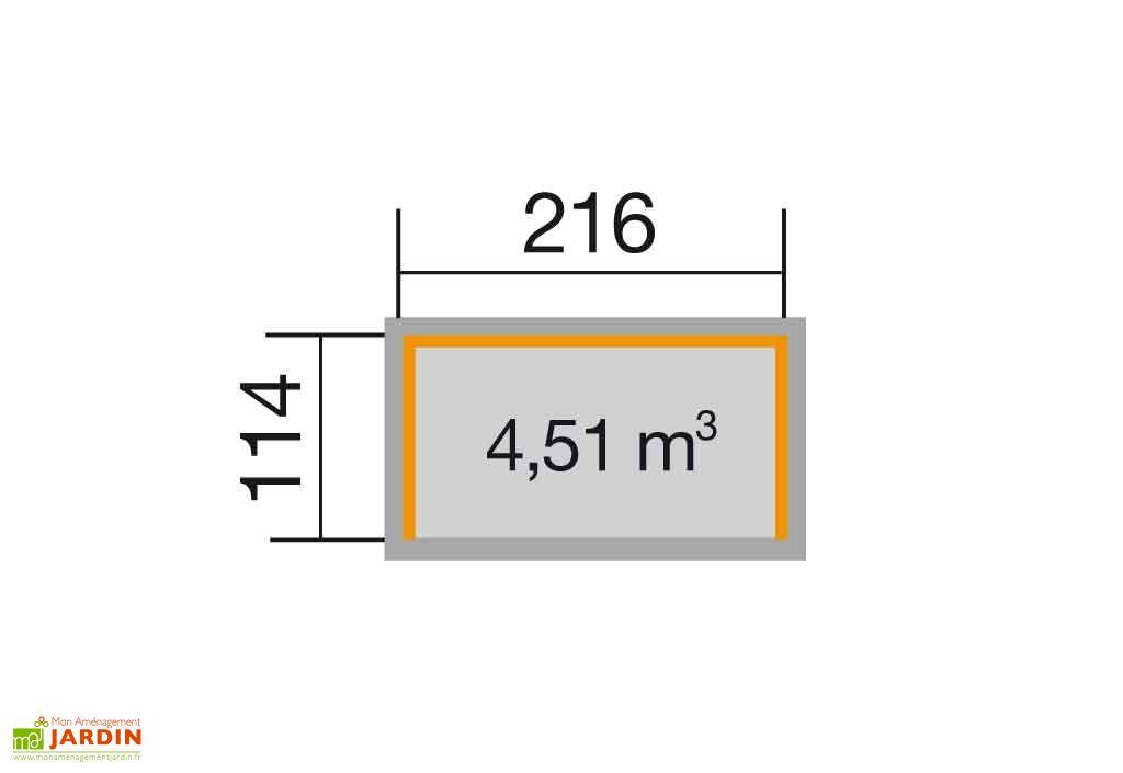 Abri Buches 4 stères Multifonctions 19 mm (114x216x204)
