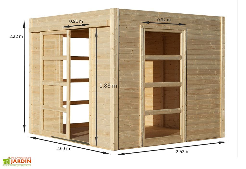 abri de jardin bois design 19mm cosy 264x256x223cm baltic. Black Bedroom Furniture Sets. Home Design Ideas