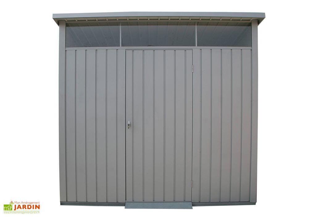 Abri de jardin en acier galvanisé Duramax 5 m² gris clair