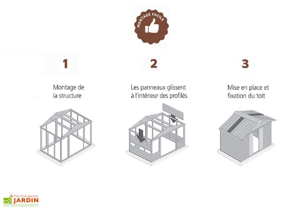 Abri de Jardin Acier Galvanisé Taupe Marron 197 x 303 cm 5,97 m²