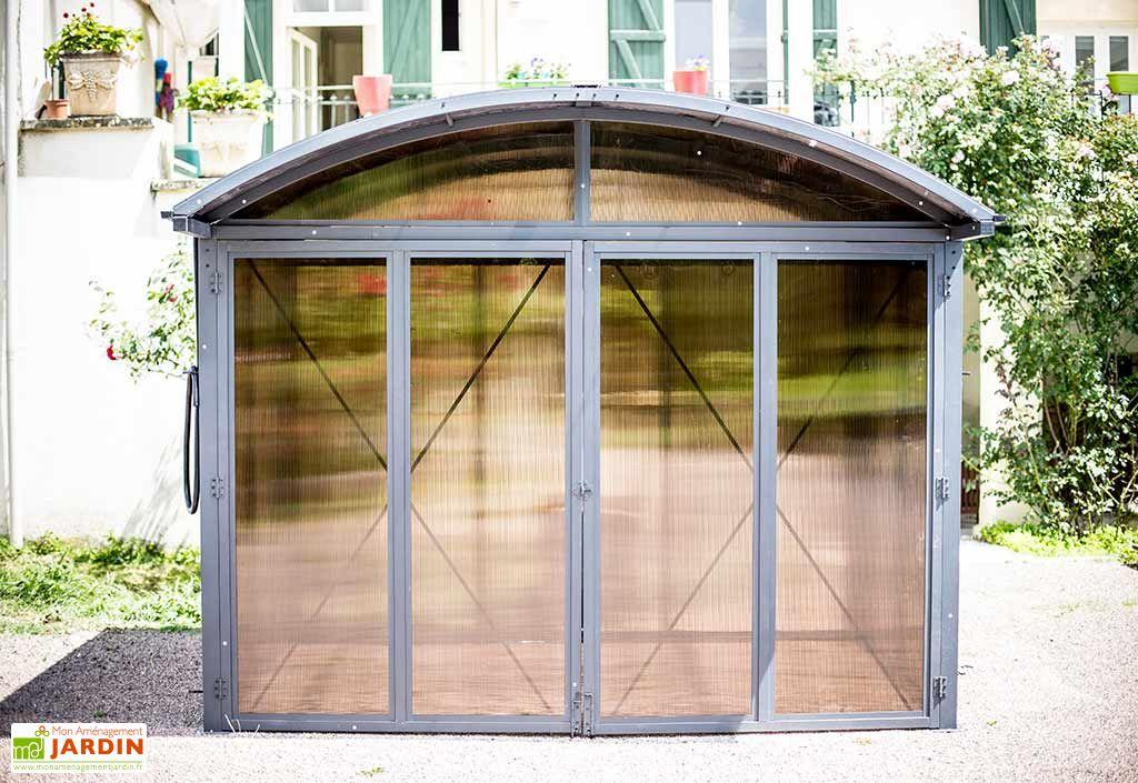 abri de jardin ferm aluminium et polycarbonate habrita. Black Bedroom Furniture Sets. Home Design Ideas