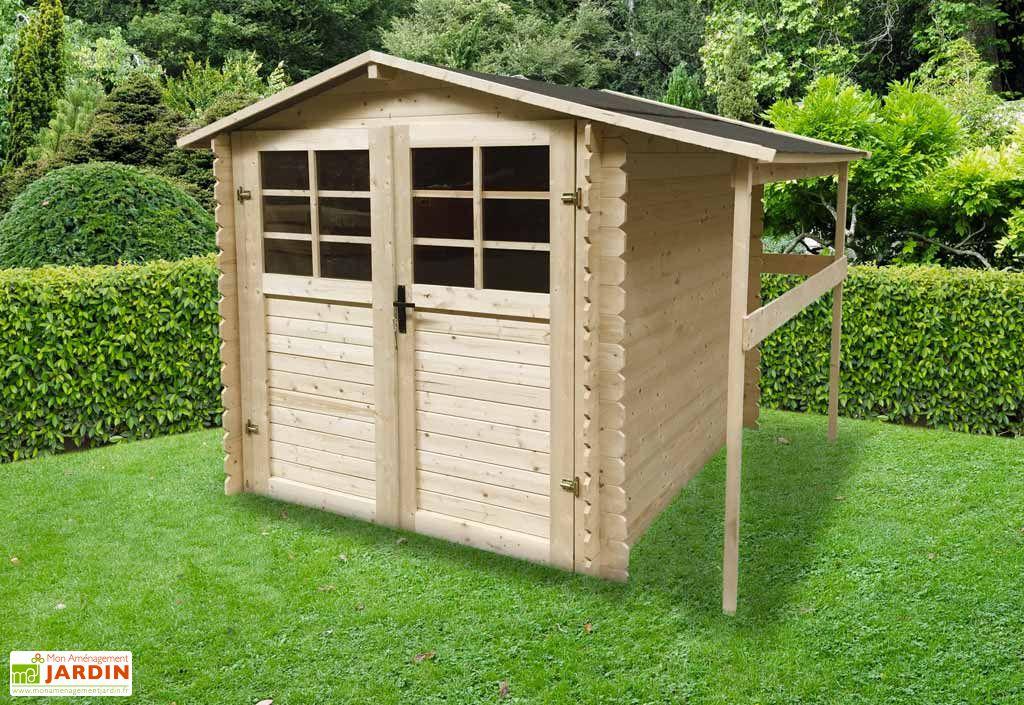 abri de jardin en bois avec b cher 19 mm 4m solid. Black Bedroom Furniture Sets. Home Design Ideas