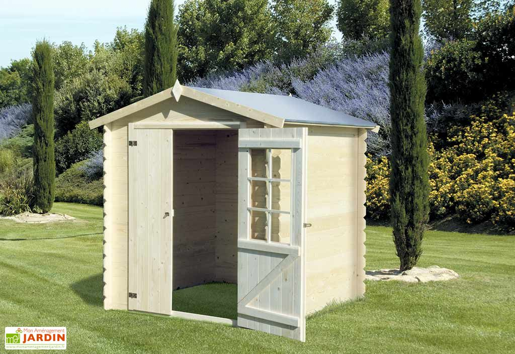 Abri de Jardin en Bois Azur 2x2 19mm