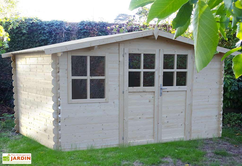 Abri de Jardin en Bois Sapin Azur 4x3 28mm