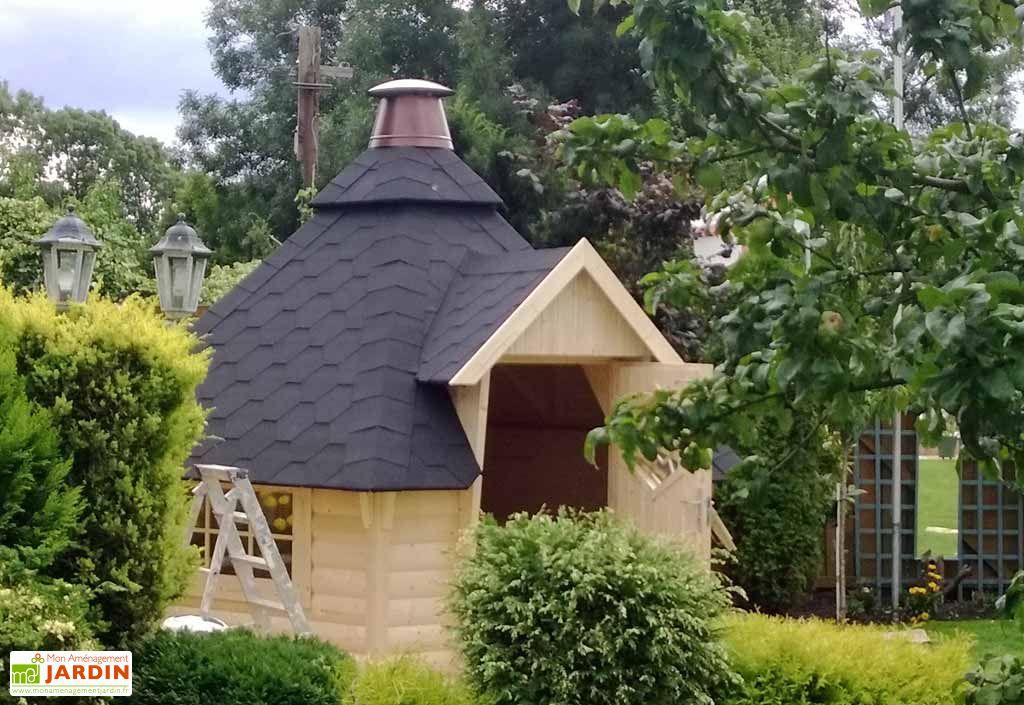 Abri de Jardin Bois Kota 382x331 44mm (Grill en Option)
