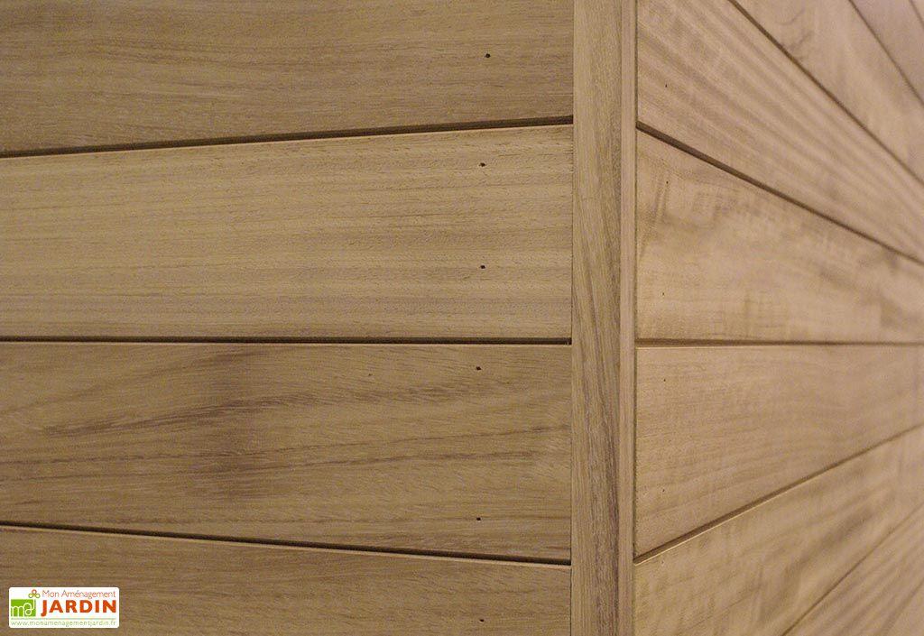 Abri de Jardin en Iroko 15 mm Box D – 300 cm (Profondeur au choix)