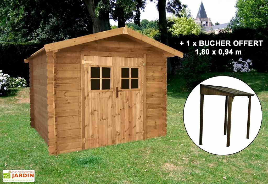 Abri jardin bois Malaga (288x288) 28mm