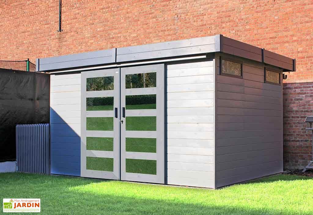abri de jardin toit plat en 19 mm 3 x 2,5 m