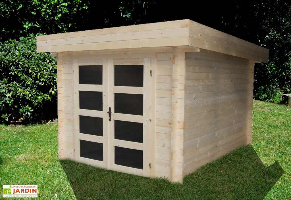 Abri de jardin bois athos 245x295 madeira - Sauna exterieur jardin moderne ...