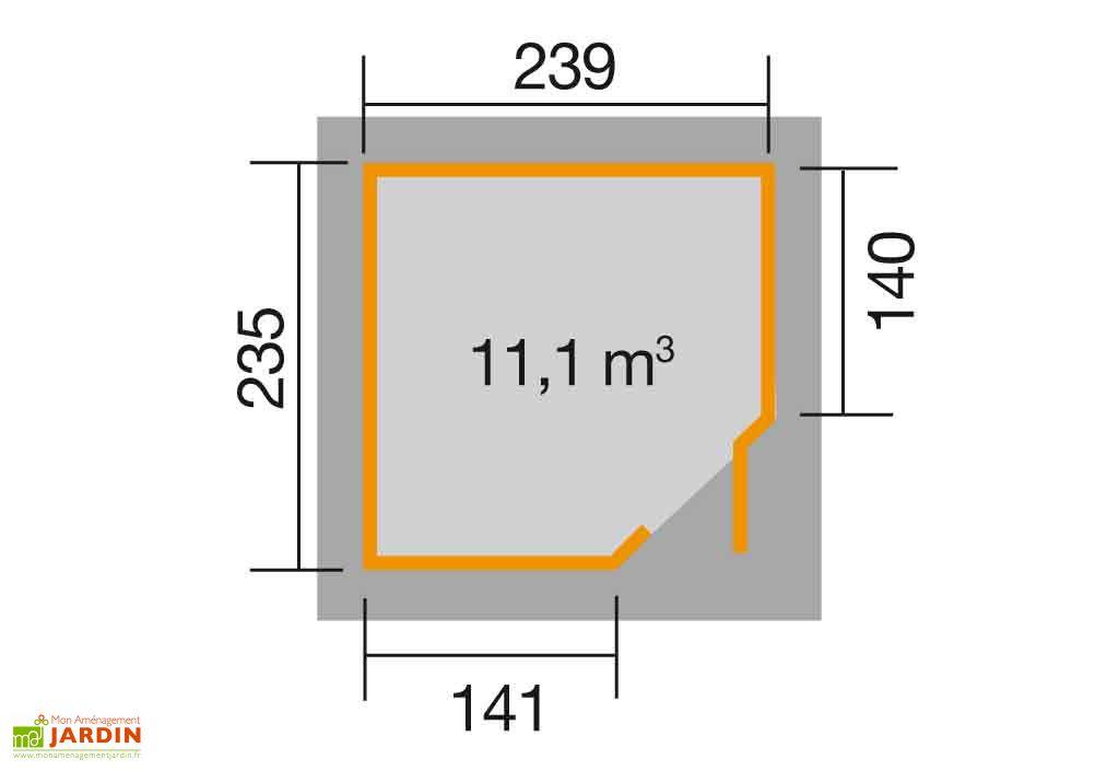 Abri Jardin Bois d'Angle Quinta 21mm (239x235)
