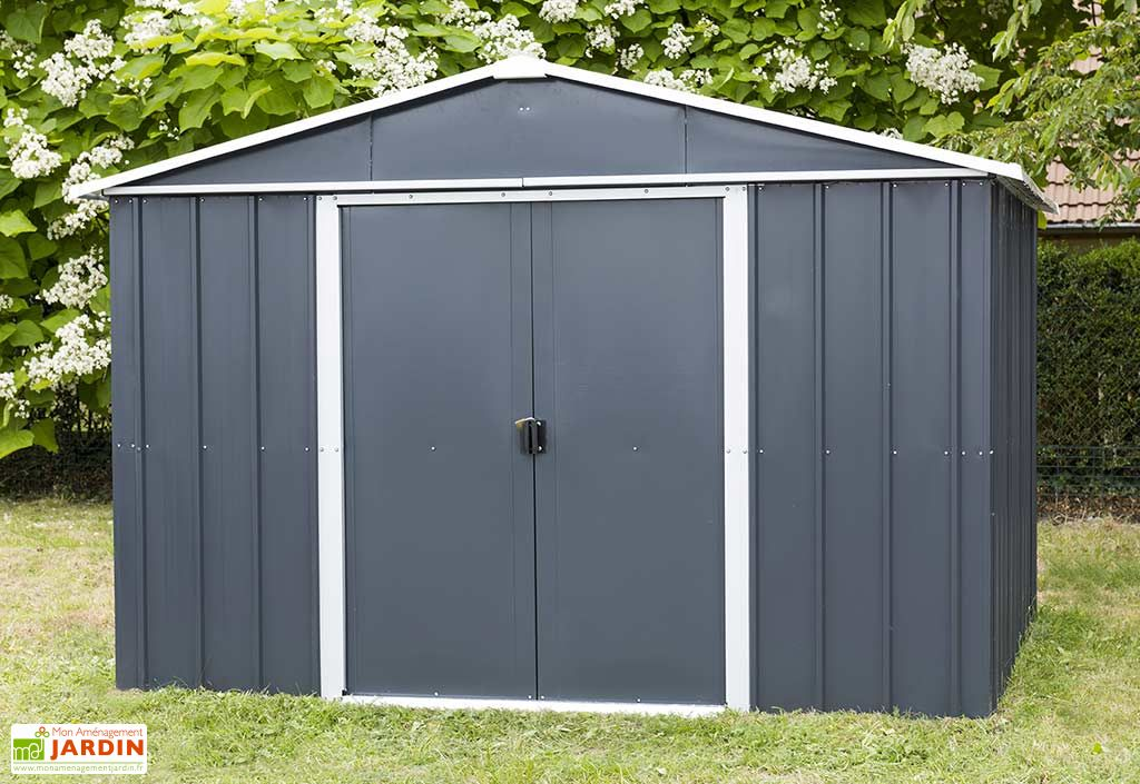 abri de jardin acier galvanis anthracite 396 x 303 cm 12. Black Bedroom Furniture Sets. Home Design Ideas