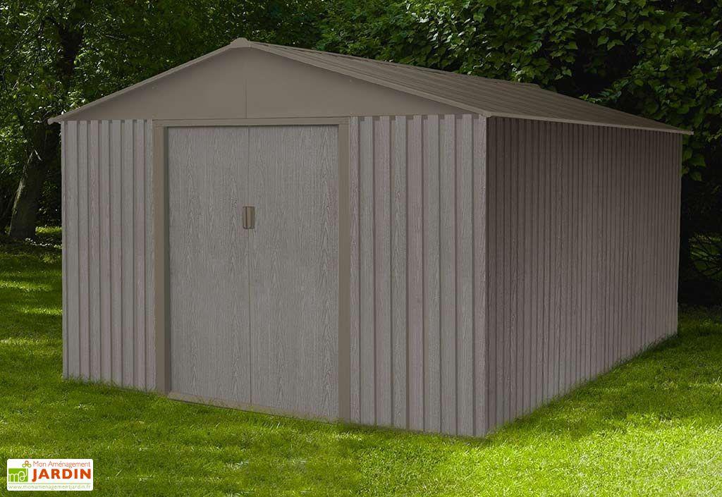 abri de jardin en métal grande dimension 14 m²