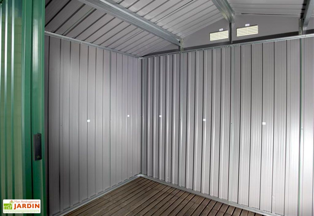 Abri De Jardin En Metal 0 33 Mm Duramax 6 M Vert Pin 8 X 8 Duramax