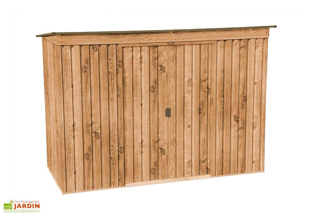 Abri de jardin en métal imitation bois Duramax Woodgrain 2,97 m²