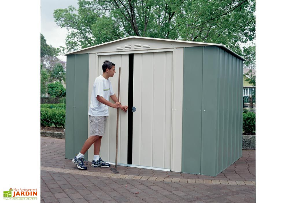 abri de jardin m tal treco colorbond 245x154x198 treco. Black Bedroom Furniture Sets. Home Design Ideas