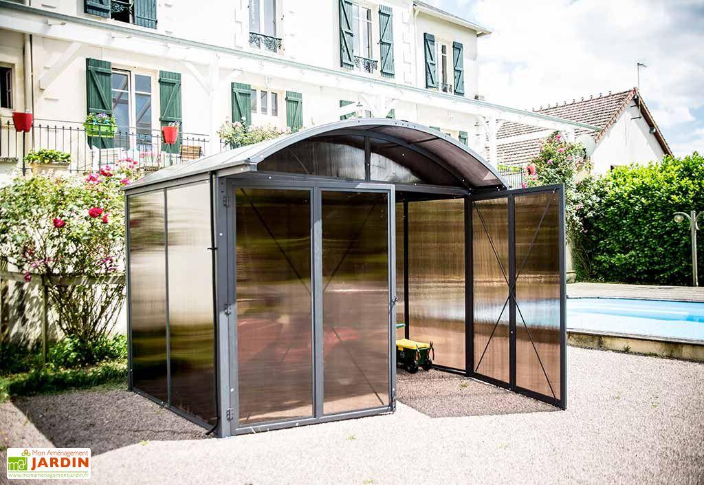 Abri de Jardin Fermé Aluminium et Polycarbonate