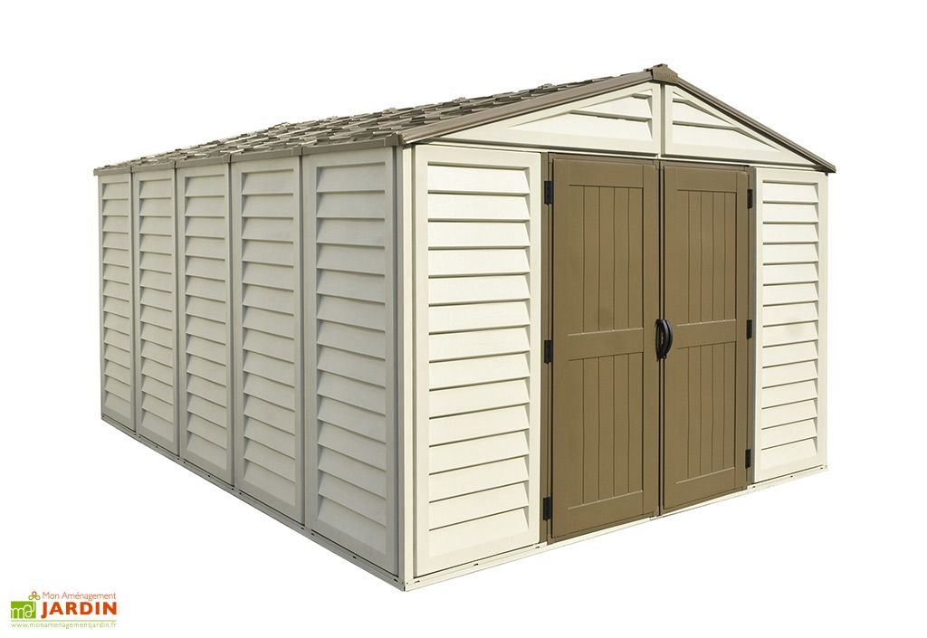 Abri de jardin Duramax en PVC Woodstyle Premium 10 x 13