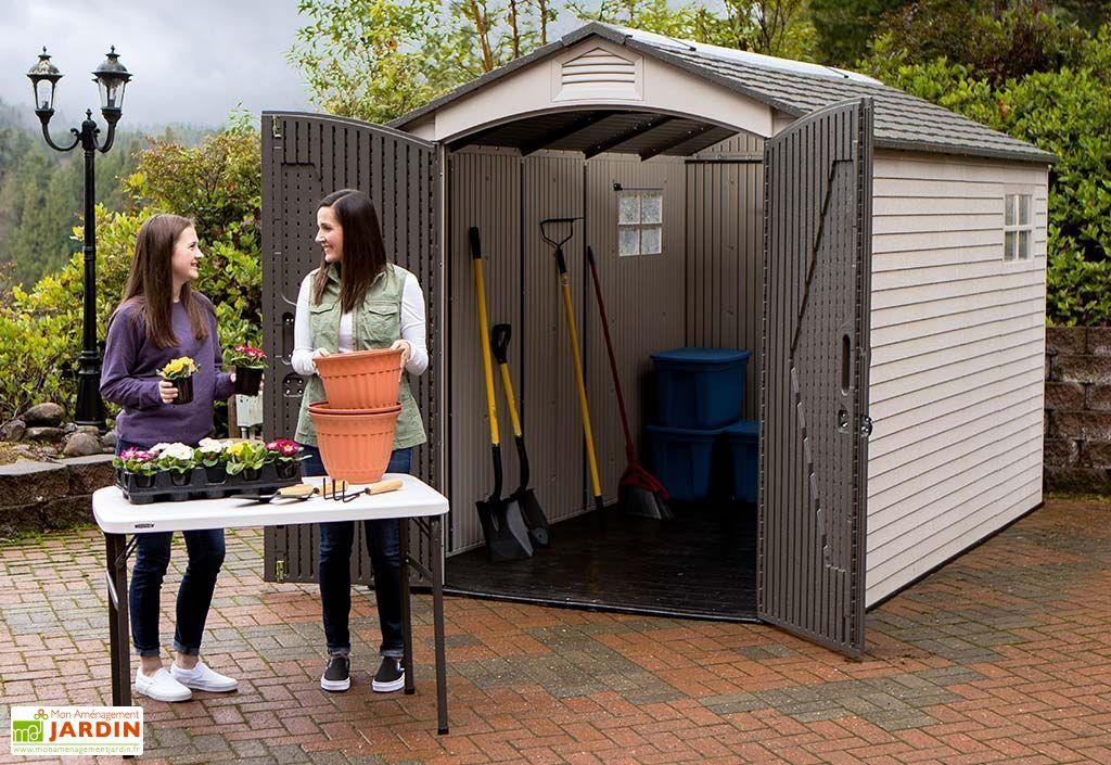 Abri de Jardin en PVC et Acier Inoxydable Lifetime Landmark 8 m²