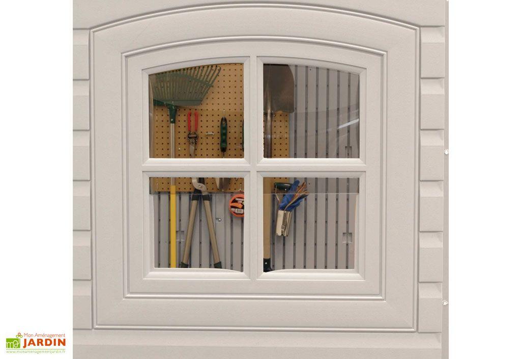 fenêtre abri de jardin en resine