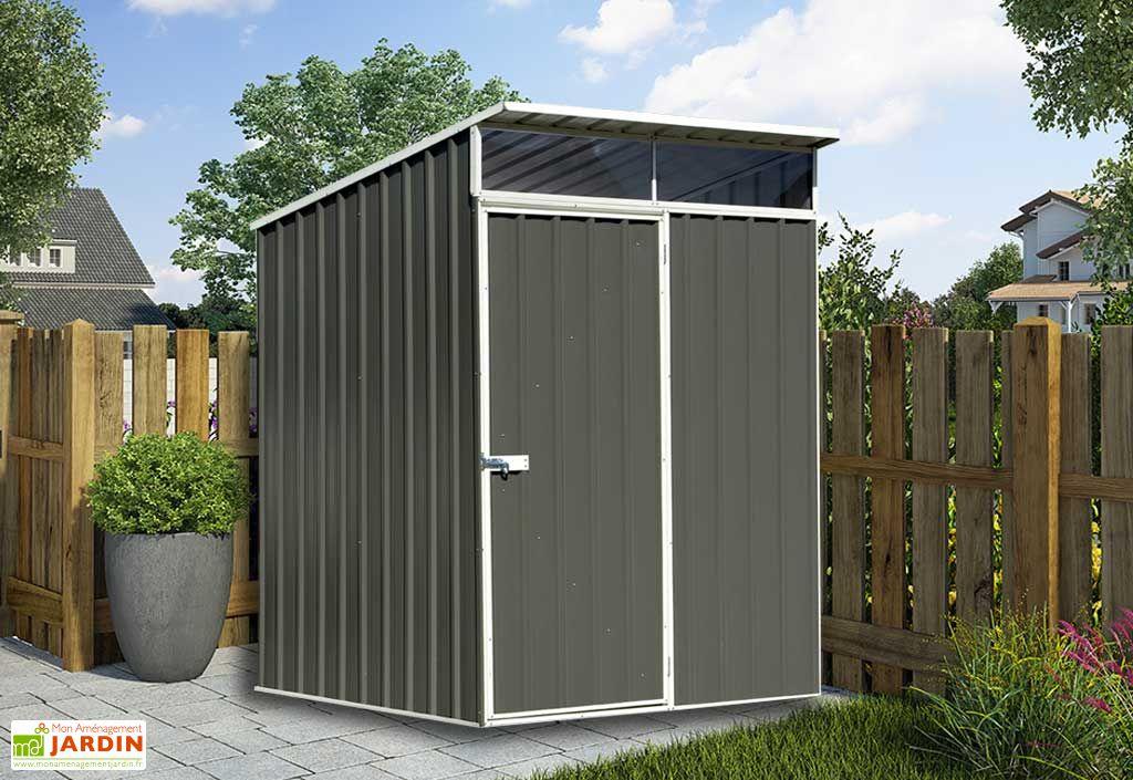 abri de jardin en m tal zincalume 0 35 mm lofty 152x152cm. Black Bedroom Furniture Sets. Home Design Ideas