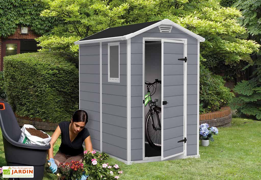Abri de jardin r sine premium 46 s gris 192x130x198 keter - Abri de jardin en resine premium 65 ...