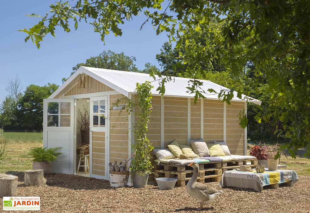 abri de jardin pvc deco 11 sherwood grosfillex. Black Bedroom Furniture Sets. Home Design Ideas