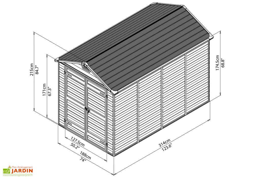 Abri de Jardin Polycarbonate Skylight Palram (3,14x1,88) 5,90 m²