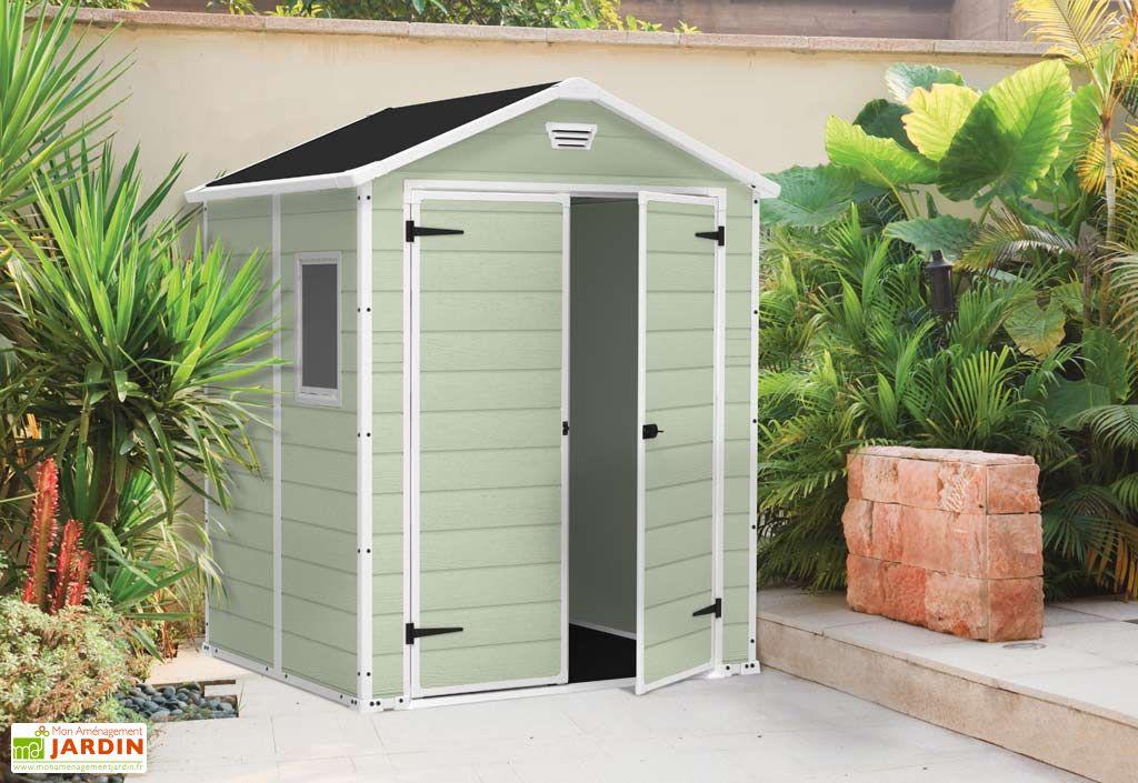 abri de jardin pvc premium 65 185x152x226 chal t jardin. Black Bedroom Furniture Sets. Home Design Ideas