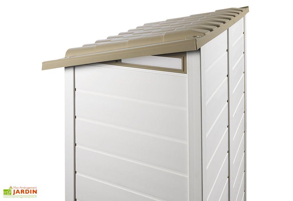 abri de jardin mural en pvc evo 100 beige 82x122cm garofalo. Black Bedroom Furniture Sets. Home Design Ideas