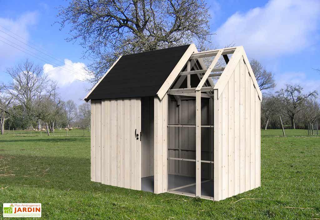 abri de jardin en bois et serre vertigo 28 mm d cor et jardin. Black Bedroom Furniture Sets. Home Design Ideas