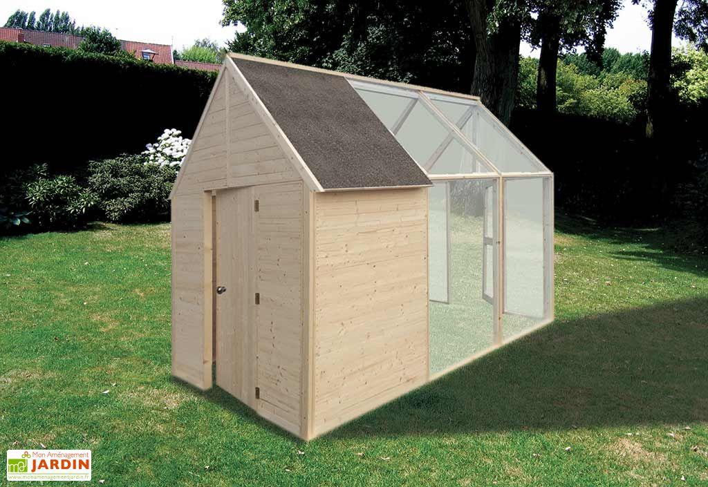 Abri de Jardin en Bois et Serre Rosie (327x200)