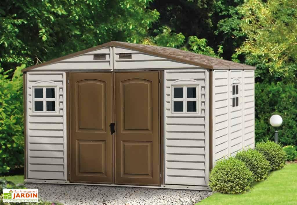Abri de Jardin PVC Duramax Woodstyle (3,20x2,40)