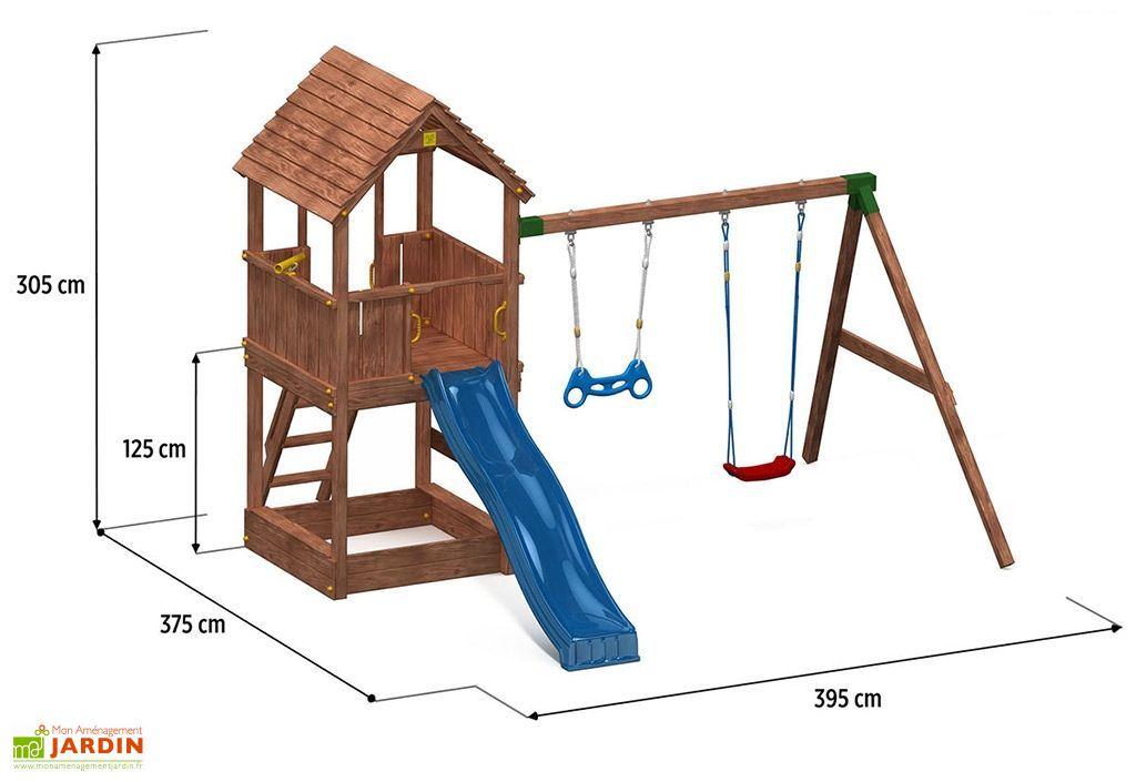 aire de jeux joy move toboggan escalade portique bac sable fungoo. Black Bedroom Furniture Sets. Home Design Ideas