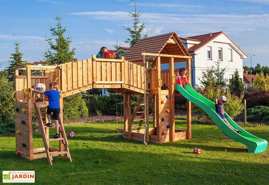 aire de jeux rainbow fortress tip escalade toboggan pont fungoo. Black Bedroom Furniture Sets. Home Design Ideas