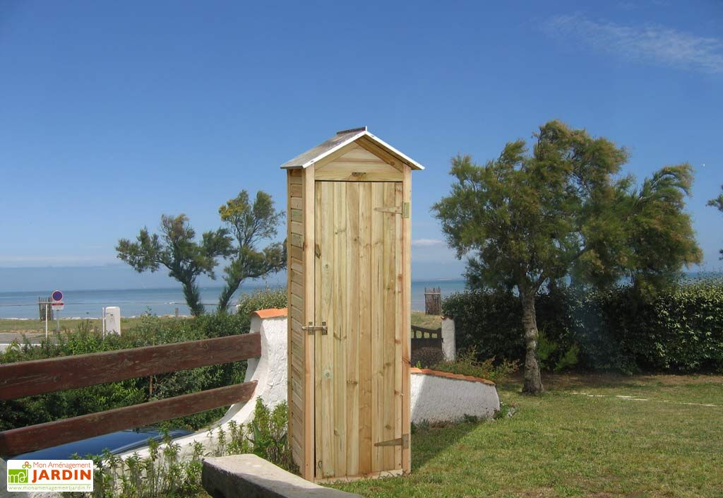Armoire Jardin Bois Simia 63x43x181
