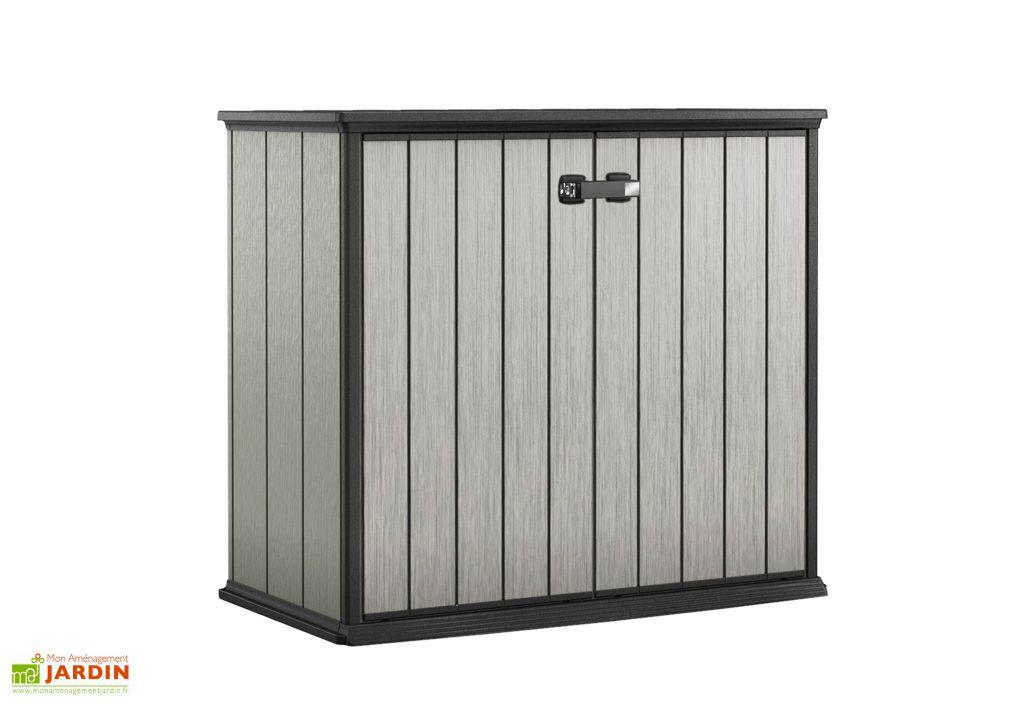 armoire basse brossium en r sine 77x139x120 chal t jardin. Black Bedroom Furniture Sets. Home Design Ideas