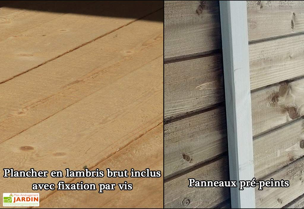 Armoire de Jardin Bois Traité Lerici 83x149cm (plusieurs coloris)